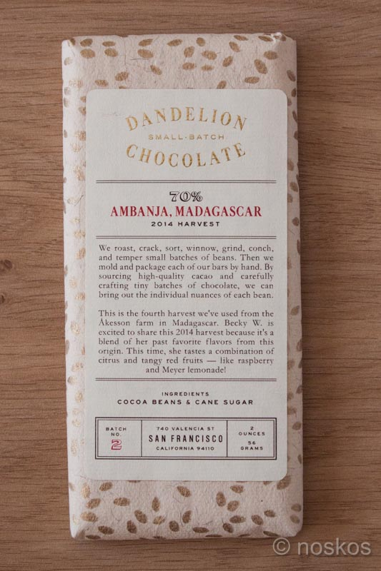 Dandelion Chocolate Madagascar